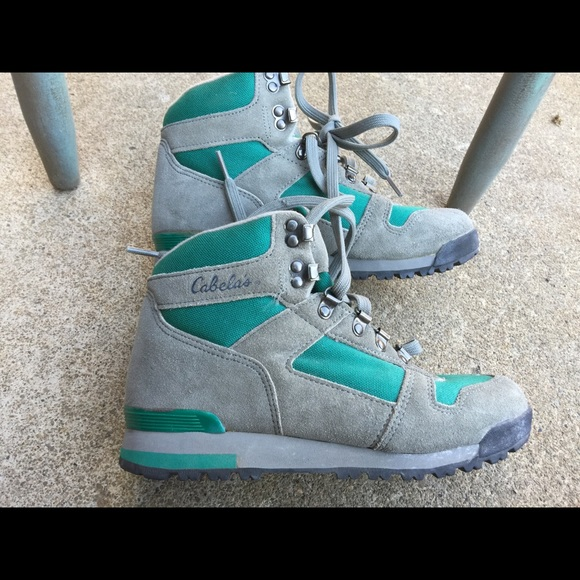 13aac87c43f Women's Vintage Cabelas Hiking Trail Boots Size 8M